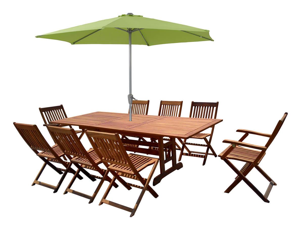 """Salon De Jardin En Bois Exotique Osaka - """"bali"""" - 1 Table ... encequiconcerne Table Et Chaise De Jardin En Bois"""