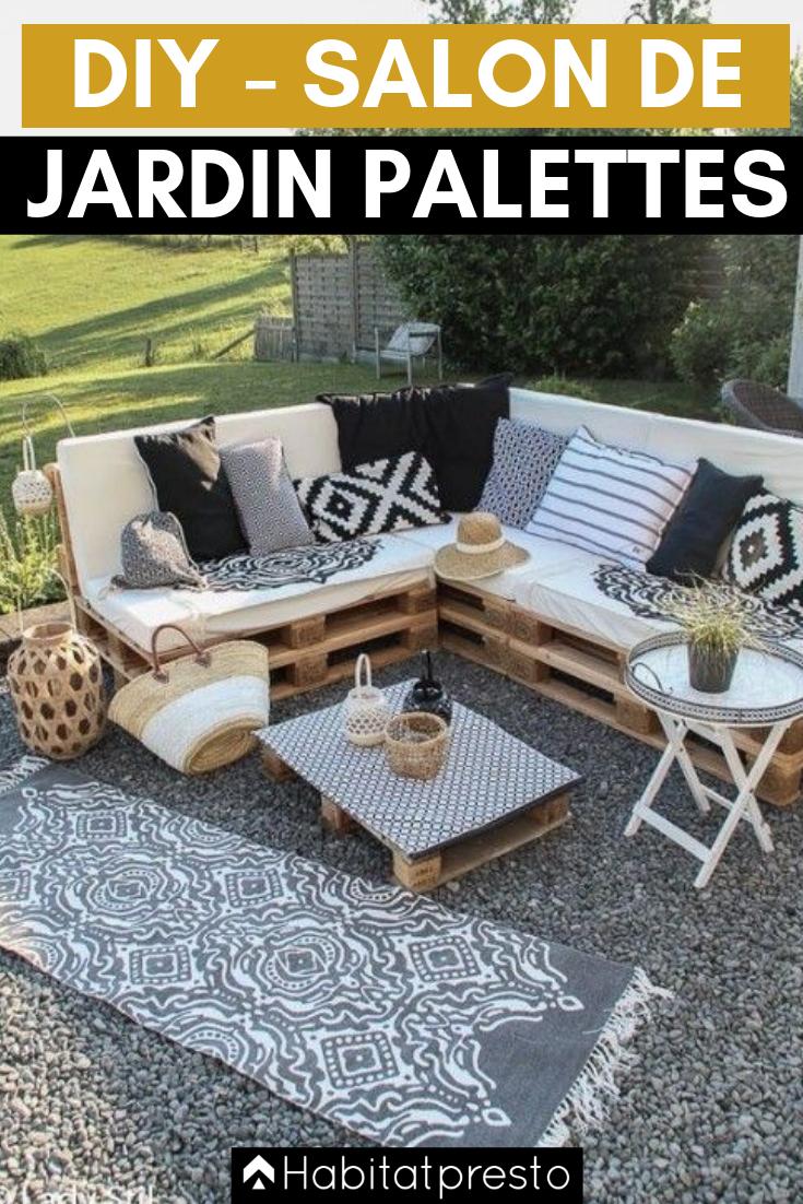 Salon De Jardin En Palettes : 10 Idées Déco Originales ... destiné Canapé De Jardin En Palette