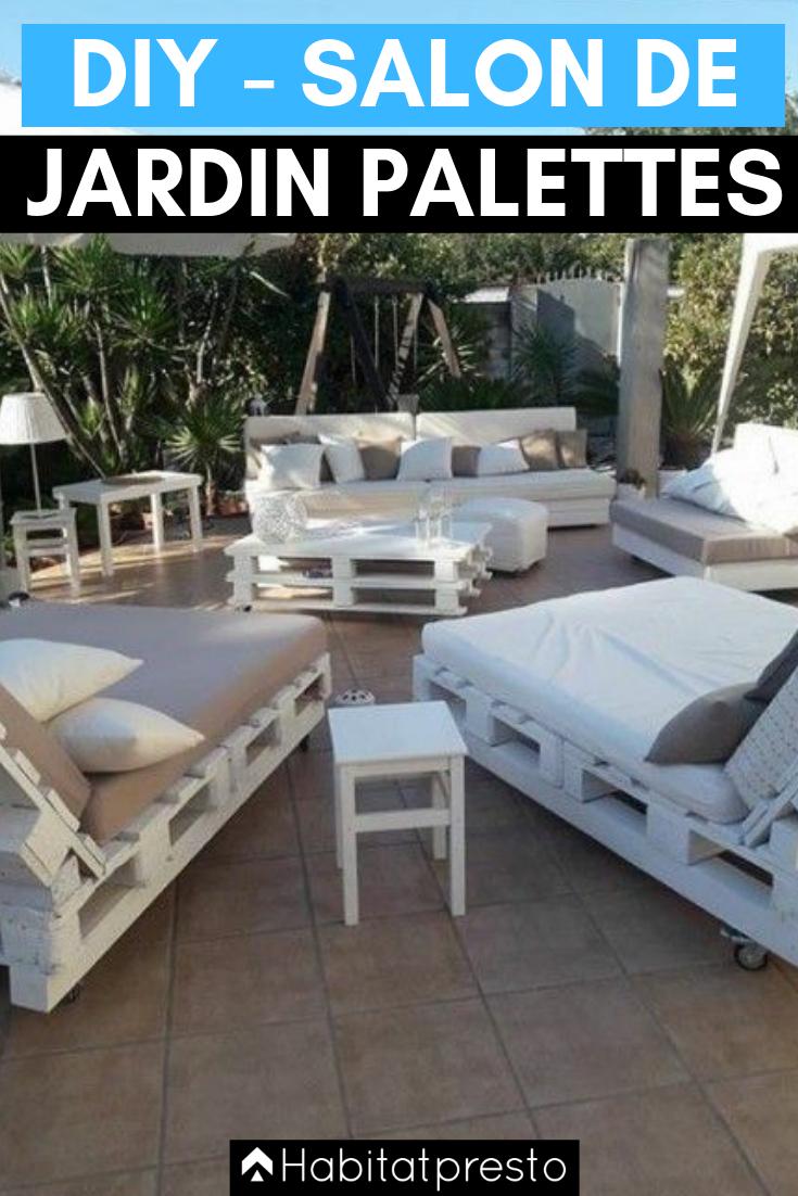 Salon De Jardin En Palettes : 10 Idées Déco Originales ... tout Canapé De Jardin En Palette
