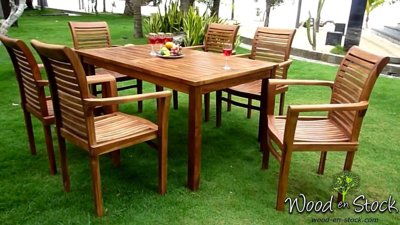 Salon De Jardin En Teck Très Confortable Sur Wood-En-Stock concernant Salon De Jardin Confortable