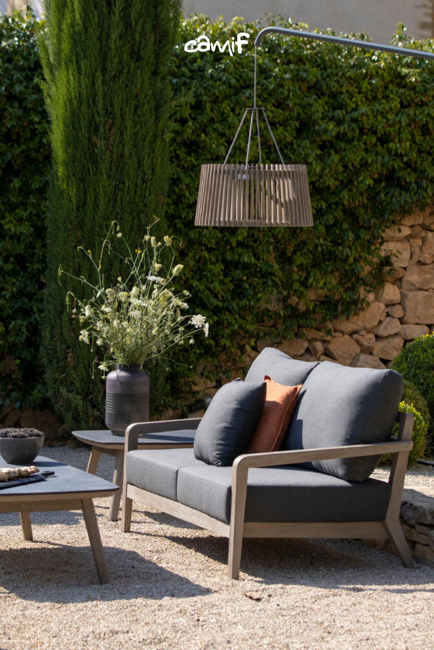 Salon De Jardin : Ensemble Table Basse Et Canapé. En 2020 ... dedans Camif Jardin
