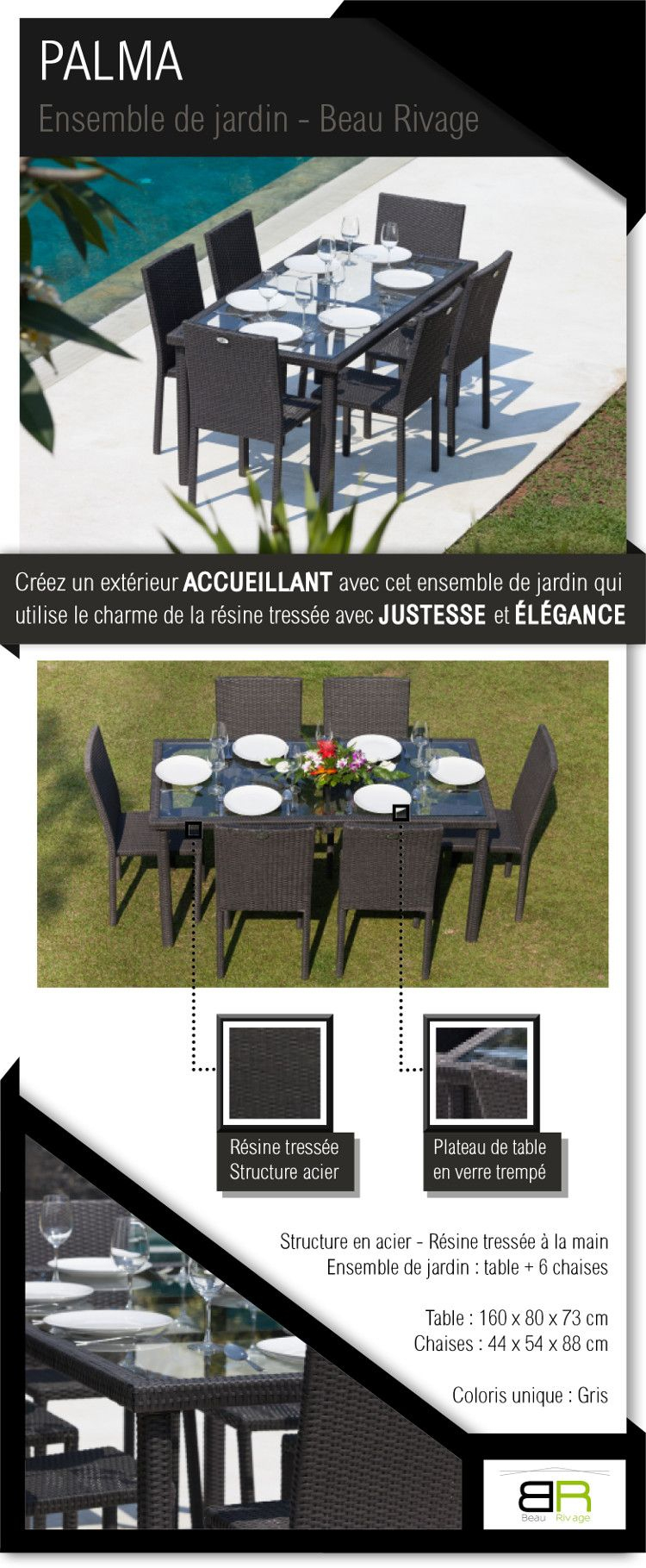 Salon De Jardin | Ensemble Table De Jardin, Table De Jardin ... avec Salon De Jardin Vente Unique