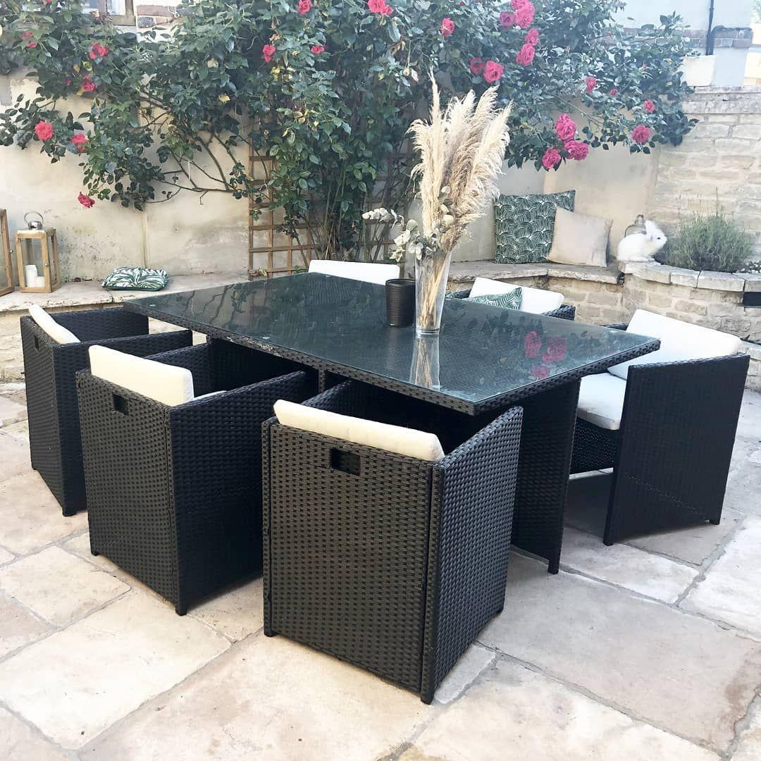 Salon De Jardin Family 6 Places | Bobochic ® | Agrément De ... concernant Salon De Jardin Encastrable 6 Places
