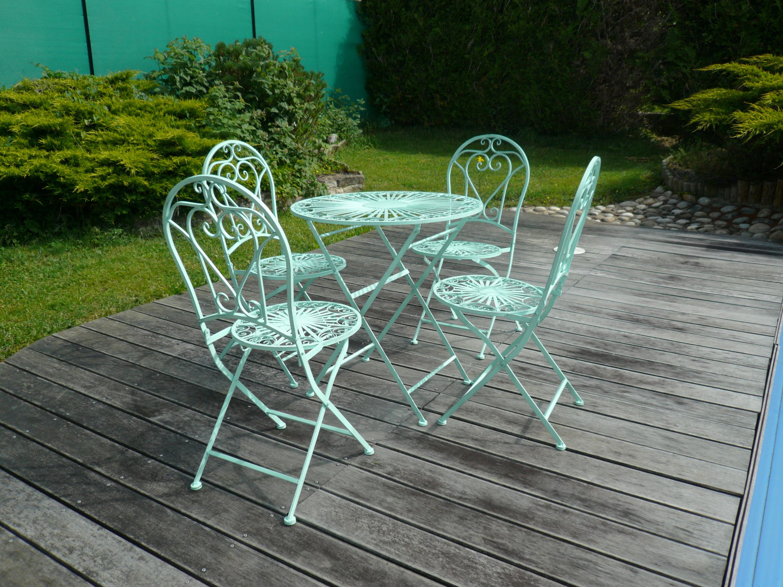 Salon De Jardin Fer Forgã© Choisir Son Salon De Jardin En ... avec Salon De Jardin En Fer Forgé