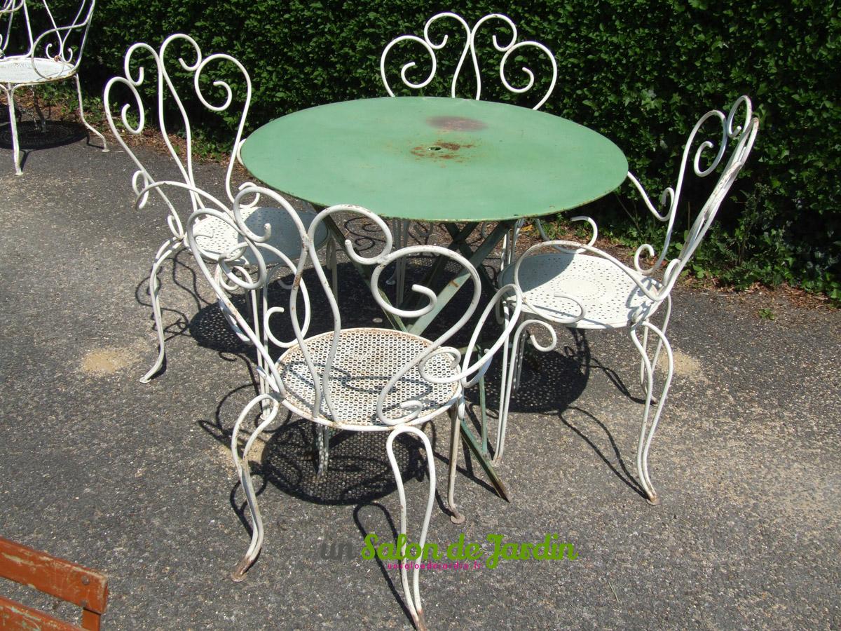 Salon De Jardin Fer Forgé Vintage - serapportantà Mobilier De Jardin Fer Forgé Ancien