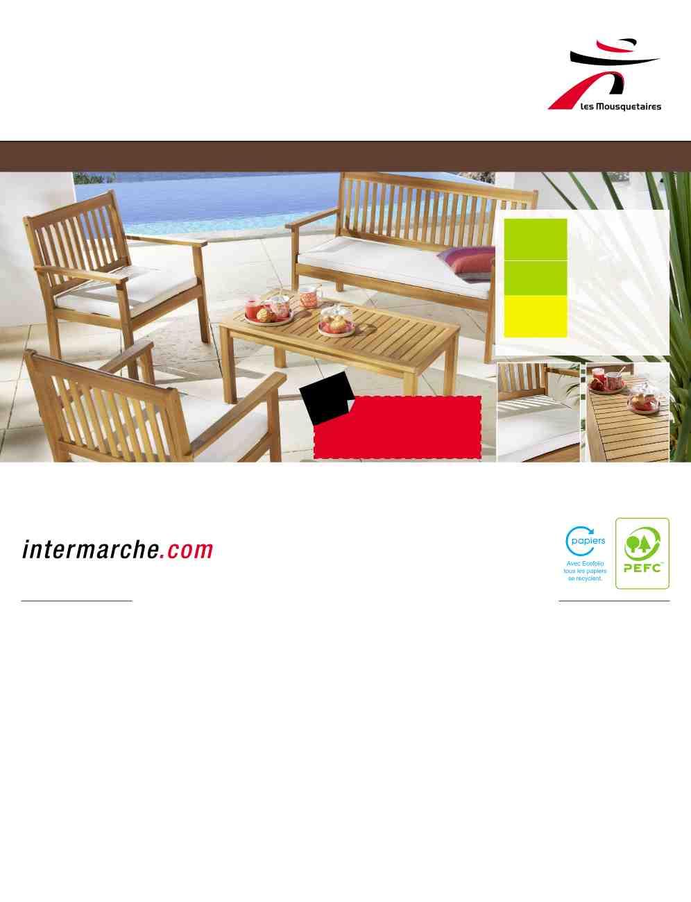 Salon De Jardin Intermarche Avril 2014 à Intermarché Table De Jardin