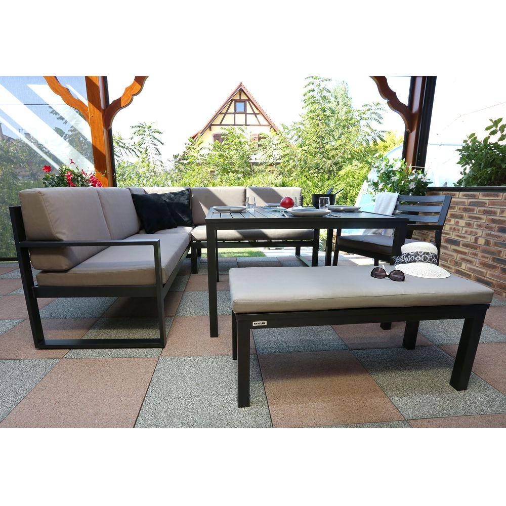 Salon De Jardin Kettler Océan : Canapé D'angle + Table + Banc avec Kettler Mobilier De Jardin