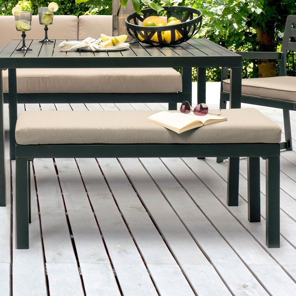 Salon De Jardin Kettler Océan : Canapé D'angle + Table + Banc + Fauteuil dedans Canapé D Angle De Jardin