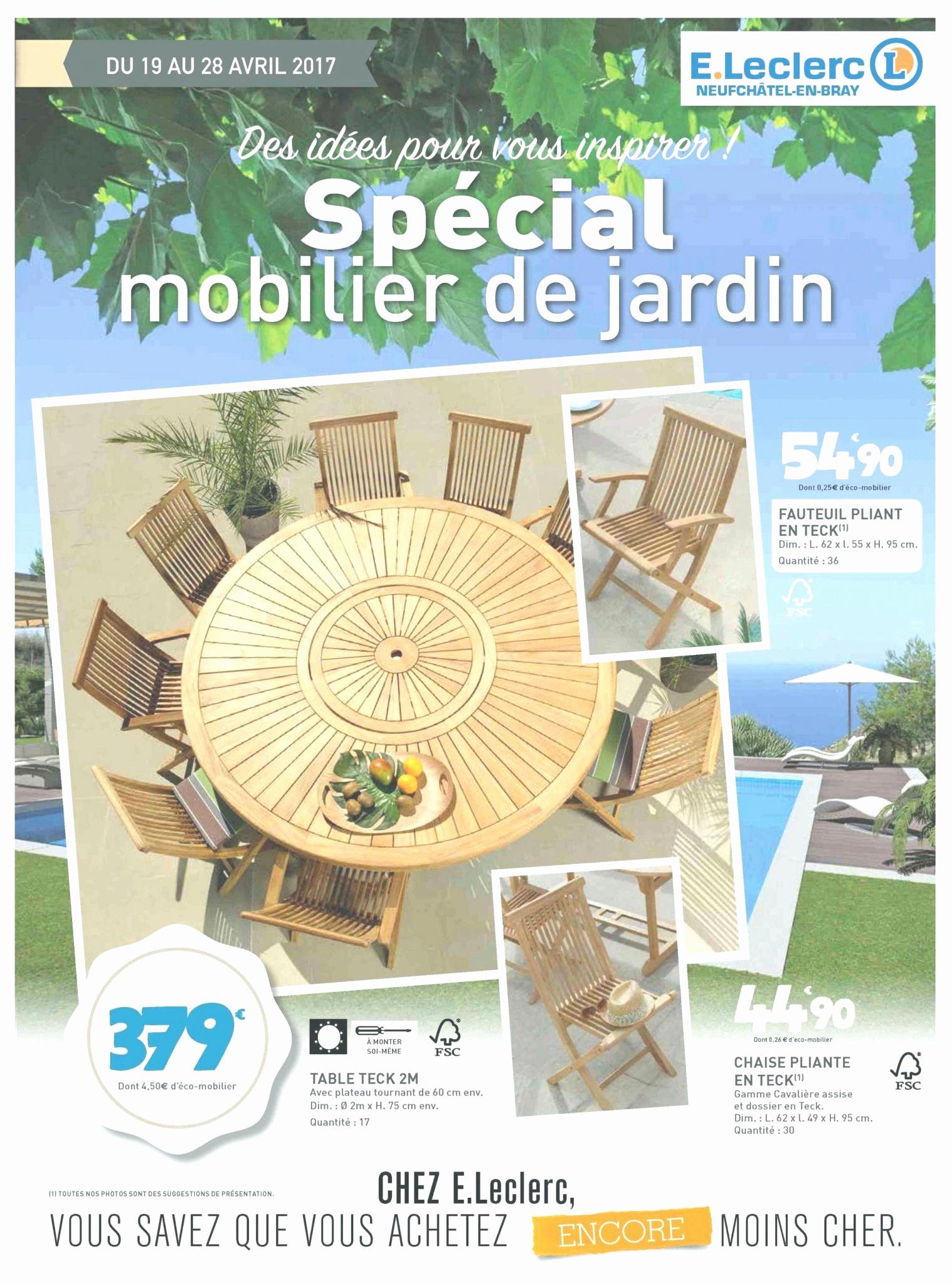 Salon De Jardin Leclerc Catalogue 2017 Le Meilleur De Table ... avec Abris Jardin Leclerc