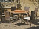 Salon De Jardin Lorny-Bergamo 6 Places   Table Mosaique ... intérieur Salon De Jardin Mosaique