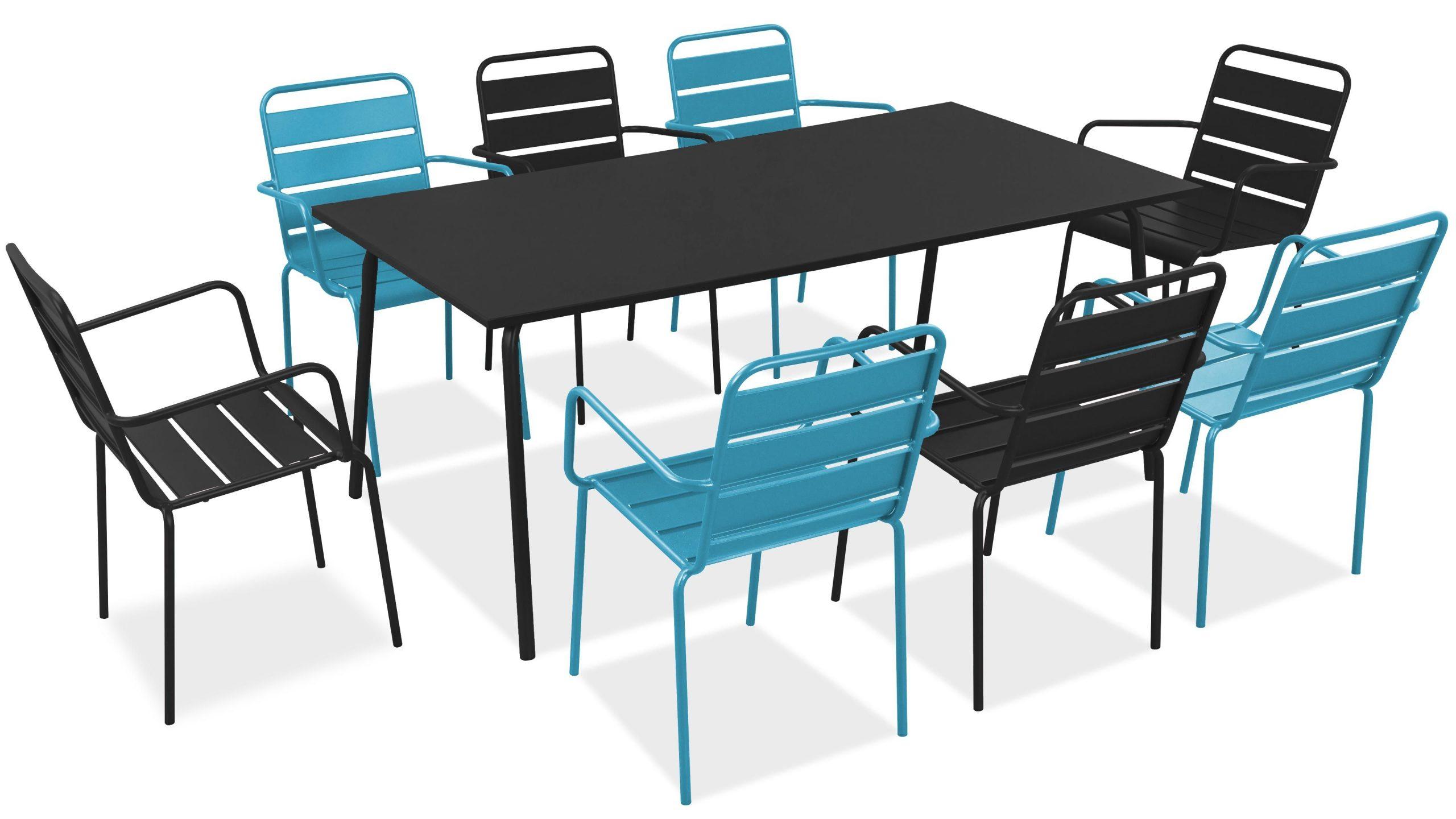 Salon De Jardin Metal Table Et Fauteuils tout Table Et Chaise De Jardin Design