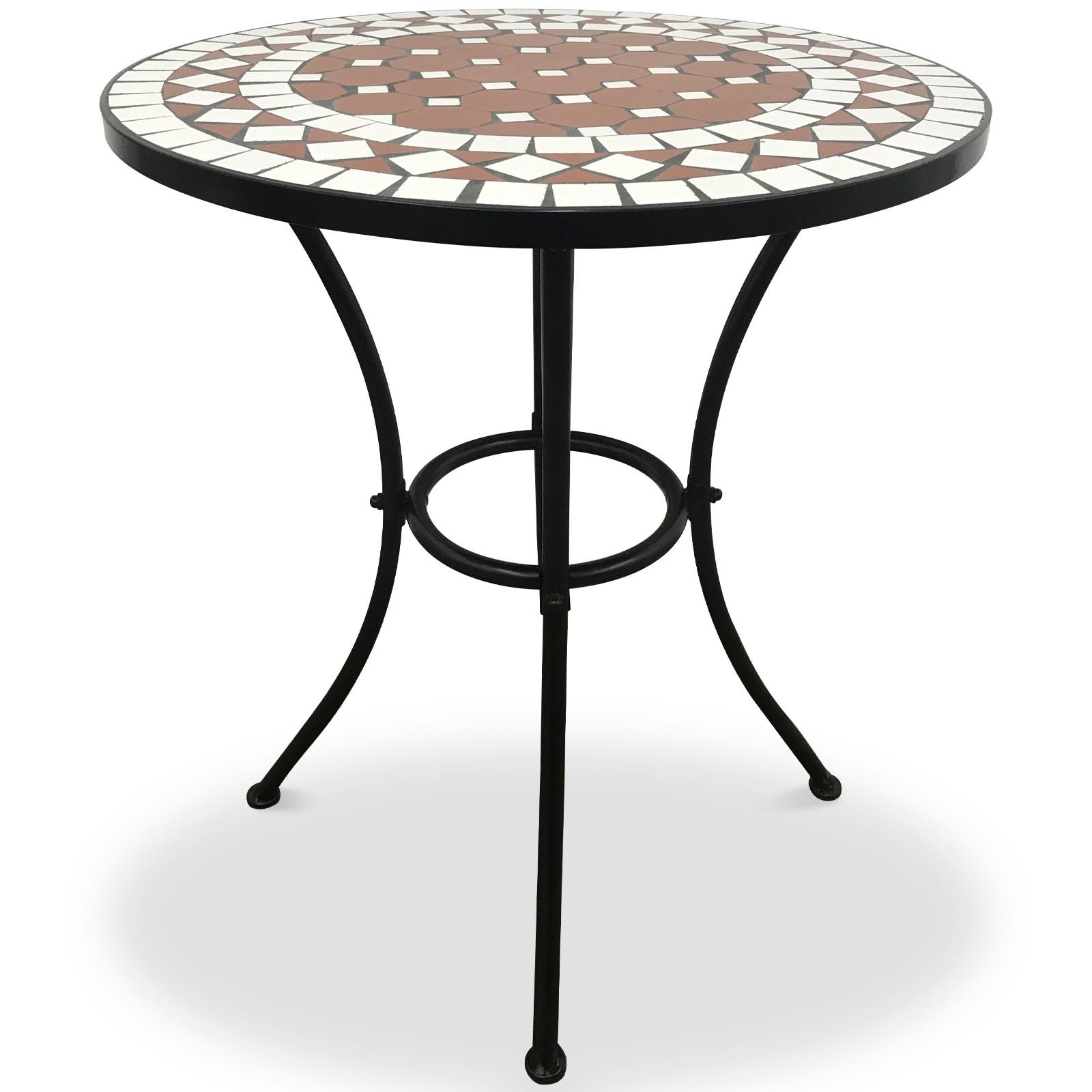 Salon De Jardin Mosaïque Ensemble Design Au Choix Bistrot ... encequiconcerne Table Jardin Ceramique