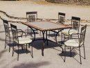 Salon De Jardin Mosaïque Table Rectangulaire Atrium Vigo ... concernant Salon De Jardin Mosaique