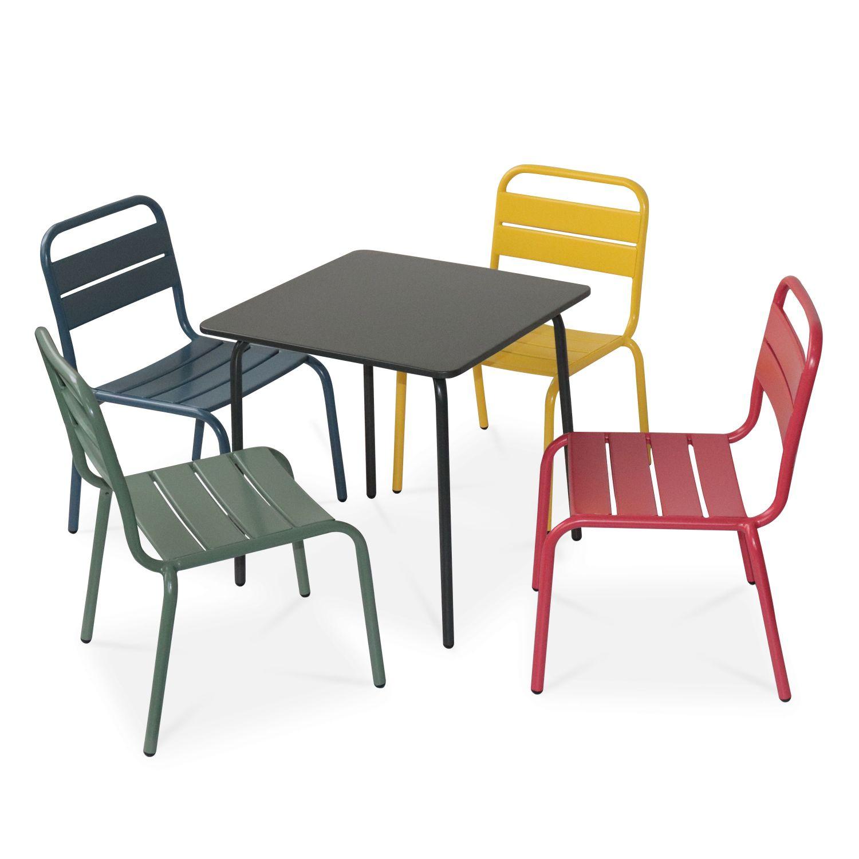 Salon De Jardin Pour Enfants - Anna - Multicolore, 4 Places ... concernant Salon De Jardin Pour Enfants