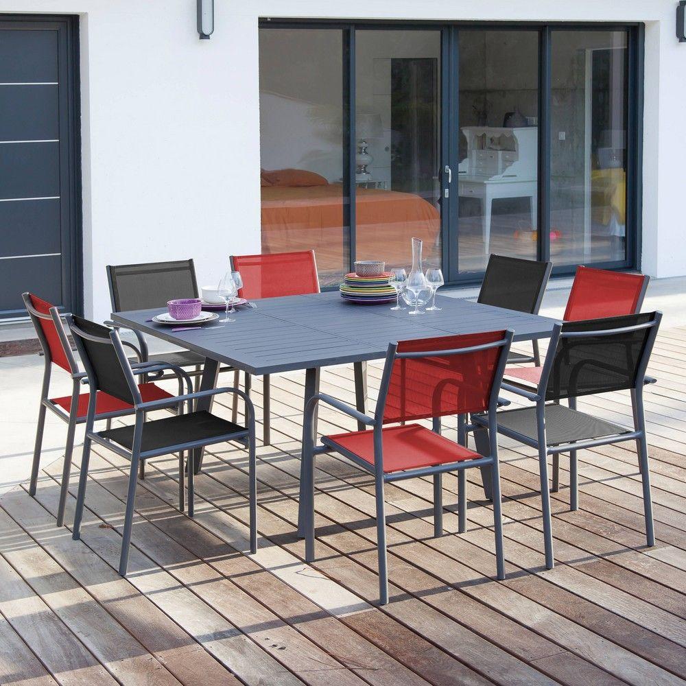 Salon De Jardin Proloisirs Barcelona : 8 Pers. En Aluminium tout Table De Jardin Carre