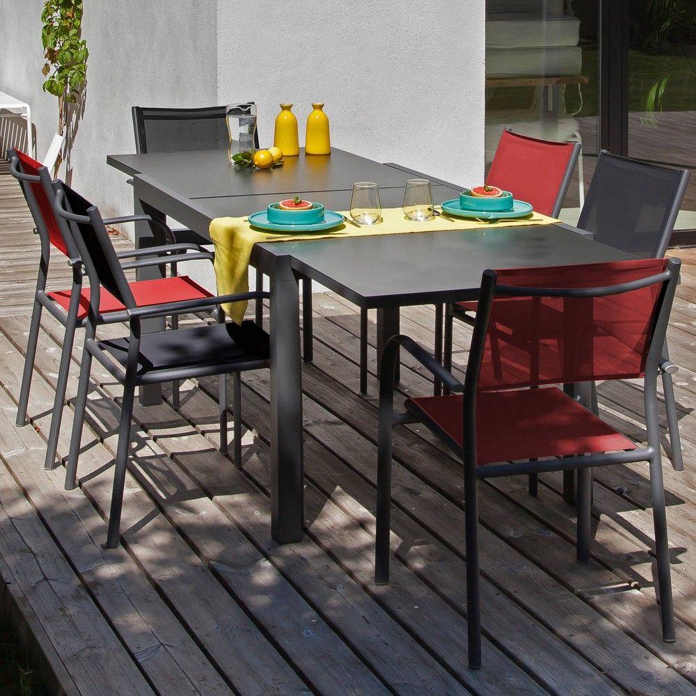 Salon De Jardin Proloisirs Elise : 6 Pers. En Aluminium pour Gamm Vert Salon De Jardin