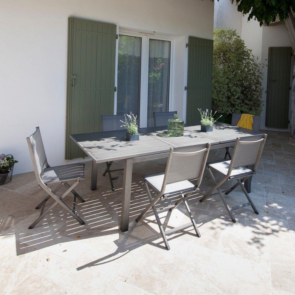 Salon De Jardin Proloisirs Thema : 6 Pers. En Aluminium destiné Gamm Vert Salon De Jardin