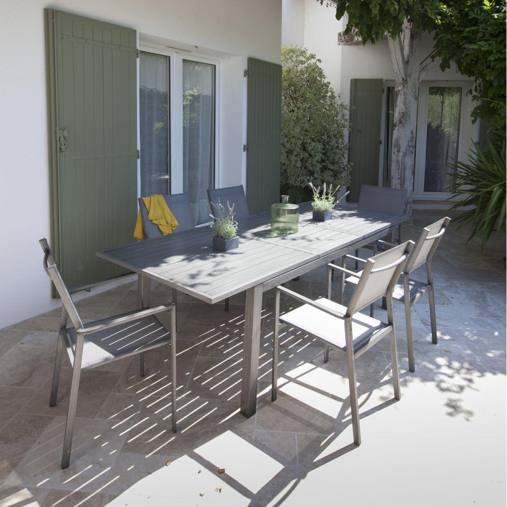 Salon De Jardin Proloisirs Trieste : 6 Pers. En Aluminium pour Gamm Vert Salon De Jardin