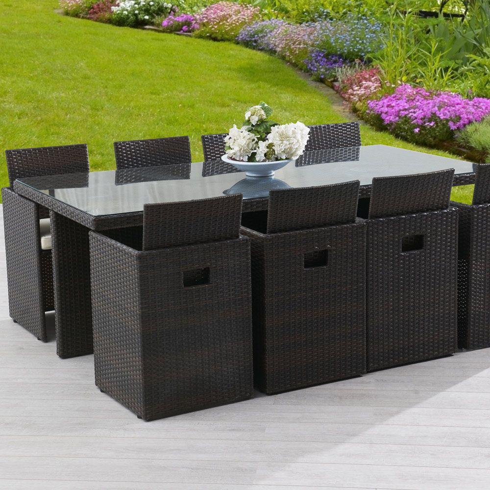 Salon De Jardin Resine   Salon De Jardin Encastrable ... avec Ensemble Table Et Chaise De Jardin En Resine Pas Cher