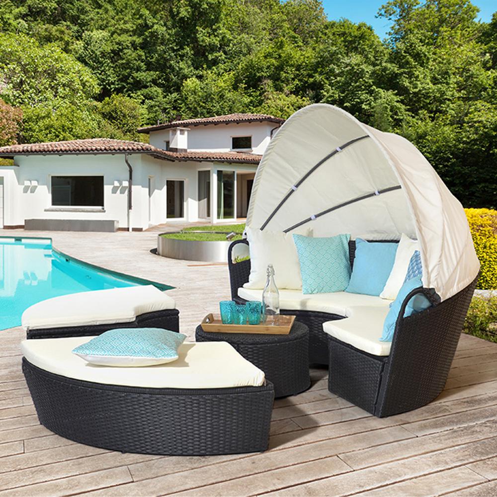 Salon De Jardin Rond Des Idées - Idees Conception Jardin pour Lit De Jardin Rond