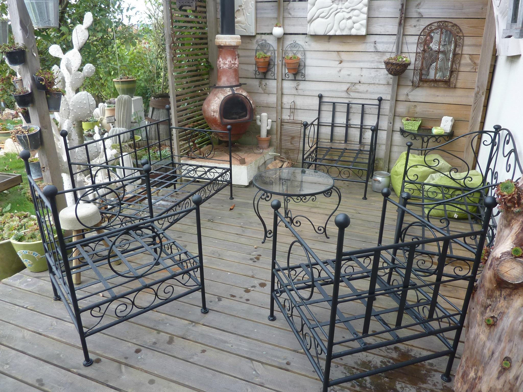 Salon De Jardin, Salon De Jardin En Fer Forgé, - La Lune Et ... pour Salon De Jardin En Fer Forgé
