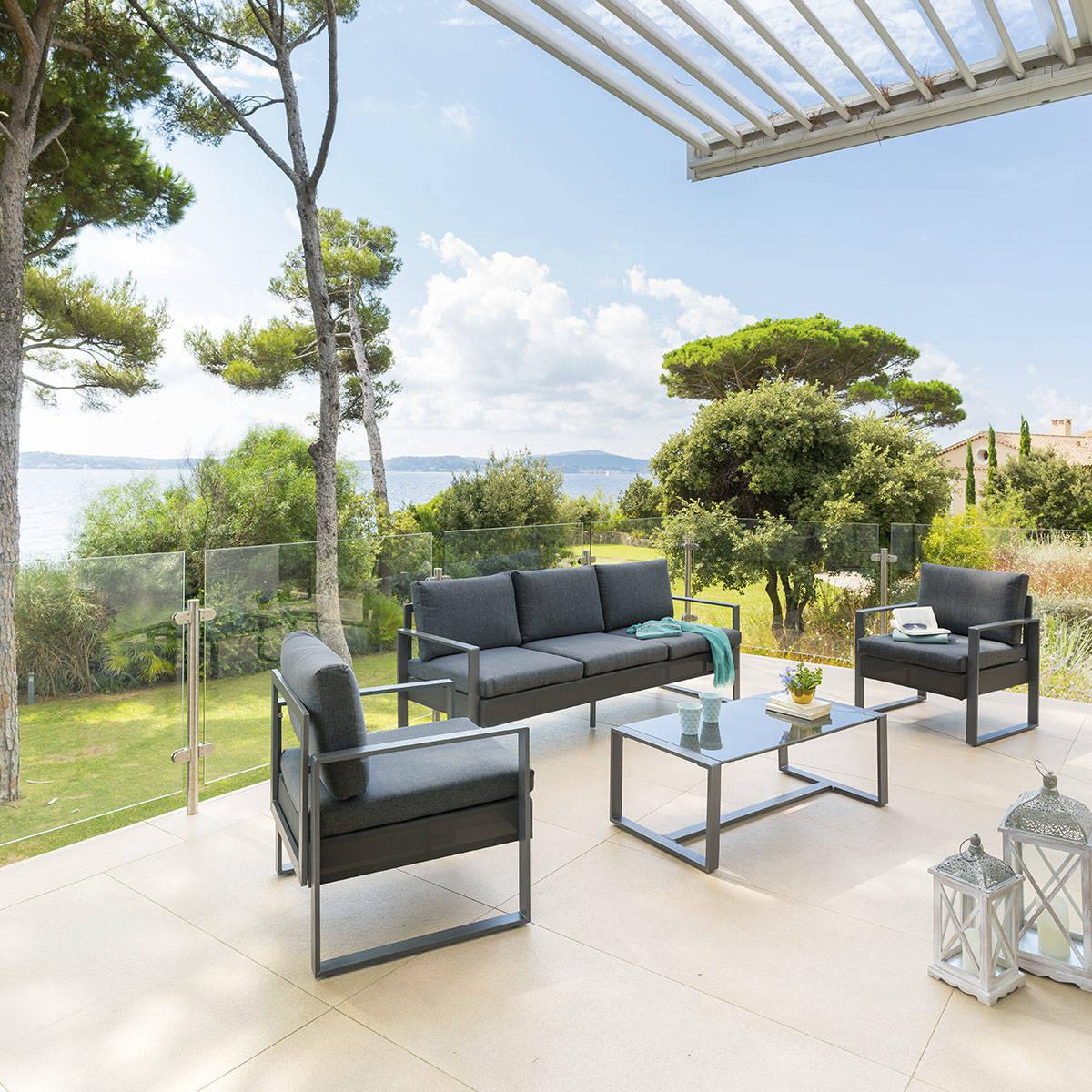 Salon De Jardin Sésimbra Graphite , Hesperide à Salon De Jardin Pour Balcon