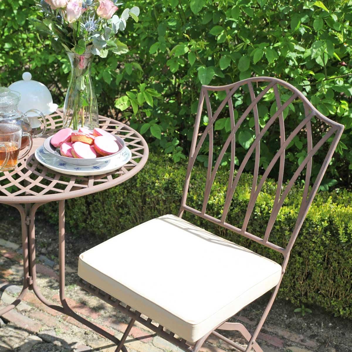 Salon De Jardin Sophia En Acier Style Fer Forgé intérieur Mobilier De Jardin Fer Forgé Ancien