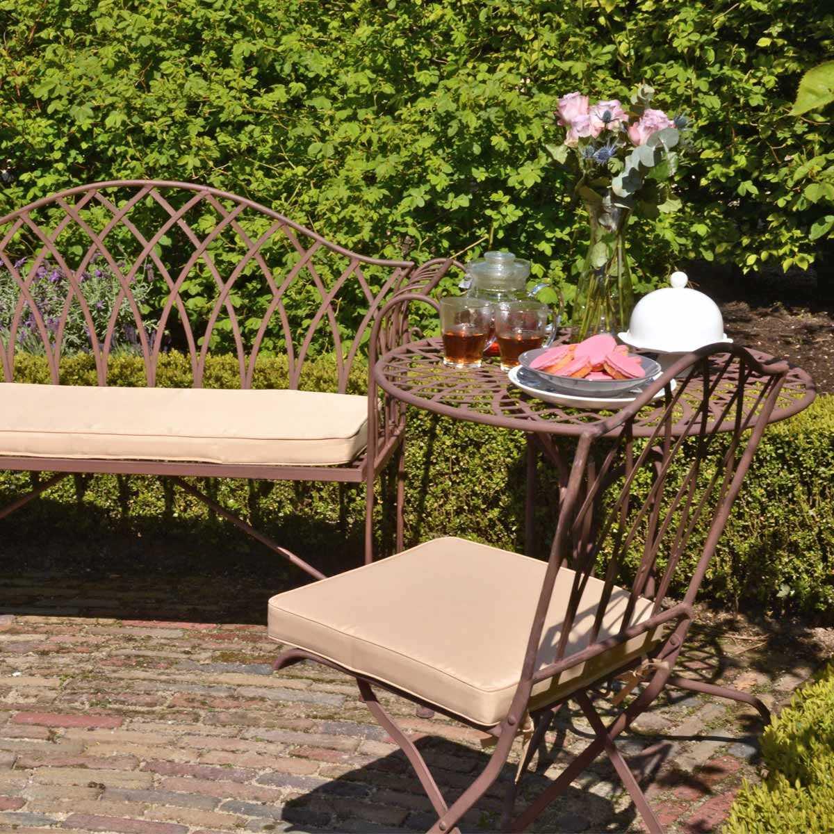 Salon De Jardin Sophia En Acier Style Fer Forgé serapportantà Salon De Jardin En Fer Coloré