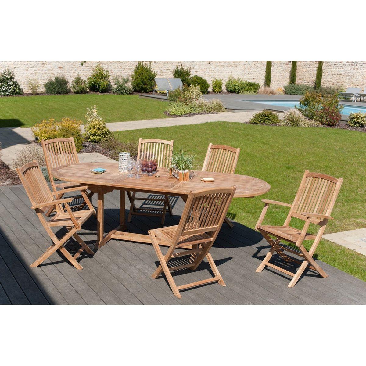 Salon De Jardin Table D'extérieur Extensible Ovale 200 ... avec Table De Jardin Intermarché