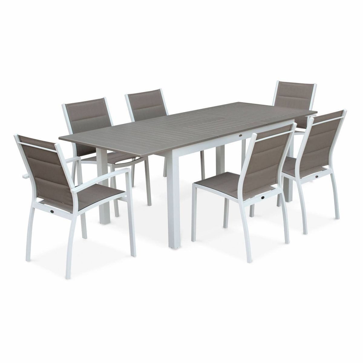 Salon De Jardin Table Extensible - Chicago 210 - Table En ... encequiconcerne Table Jardin Aluminium Avec Rallonge