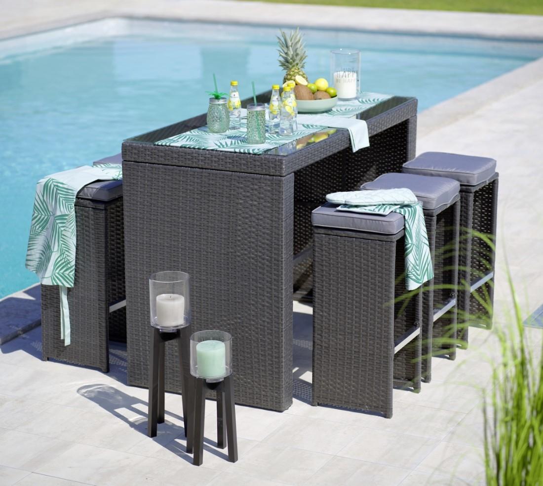 Salon De Jardin Table + Fauteuil Weaker Pas Cher - Salon De ... pour Destockage Salon De Jardin Resine Tressee