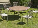 Salon De Jardin Table Mosaique Ø140 + 6 Fauteuils   Table ... dedans Salon De Jardin Mosaique