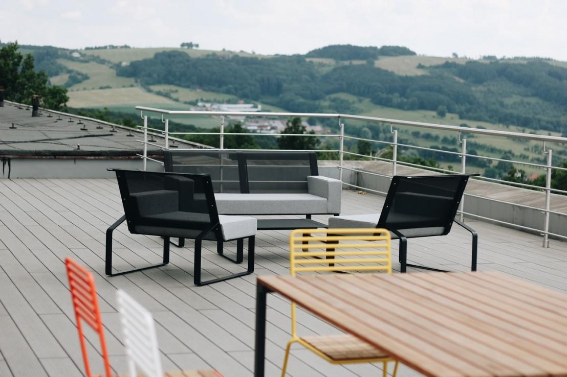 Salon De Jardin, Table Rectangulaire Cora, Banc Bistrot Et 4 ... destiné Salon De Jardin Cora