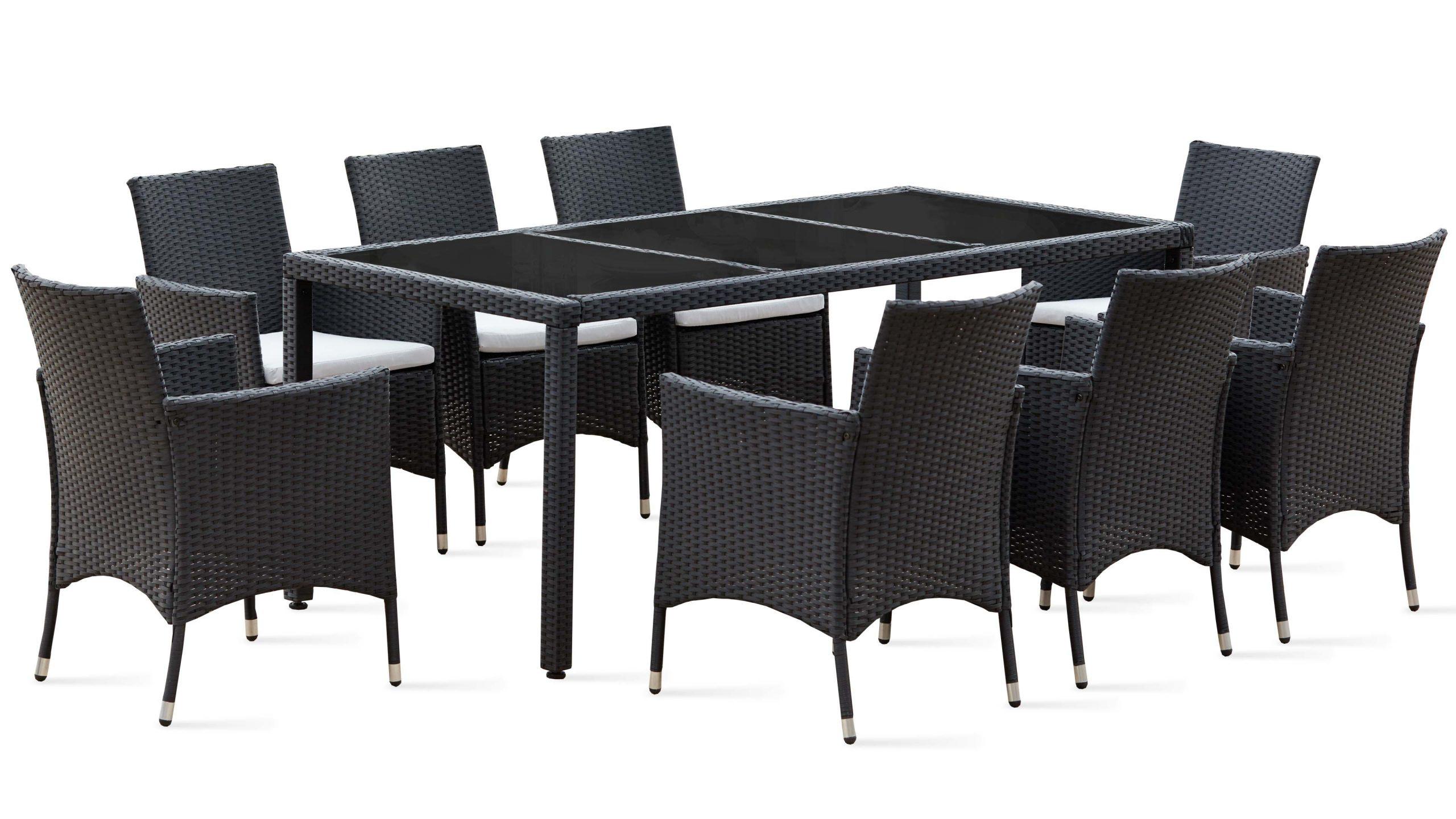Salon De Jardin Table Résine Tressée 8 Fauteuils concernant Table De Jardin En Resine Tressée
