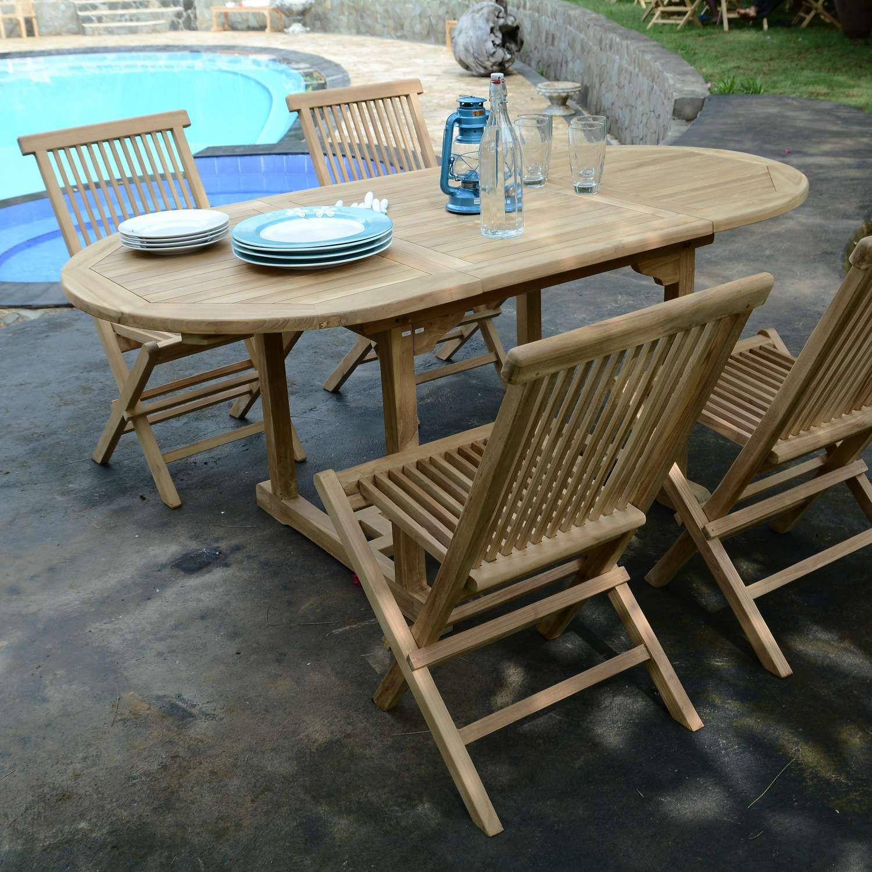 Salon De Jardin Teck Ecograde Hawaï, 4 Chaises pour Salon De Jardin Hawai