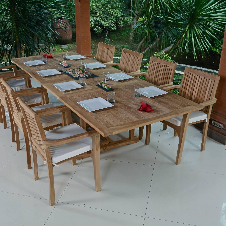 Salon De Jardin Teck Ecograde Vence, 8 Fauteuils dedans Salon De Jardin Teck Massif
