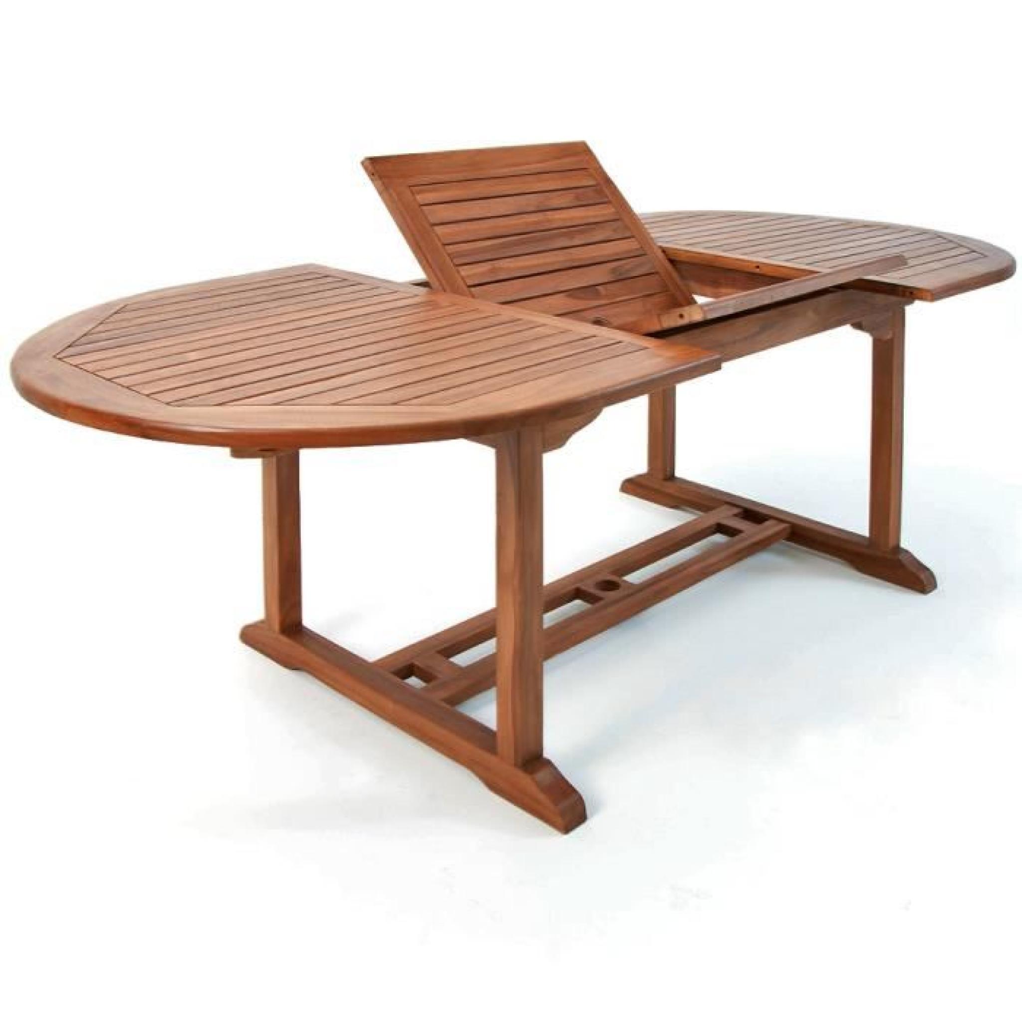 Salon De Jardin Vanamo - Ensemble 7 Pièces Table Et Chaises En Bois Dur intérieur Salon De Jardin En Bois Pas Cher
