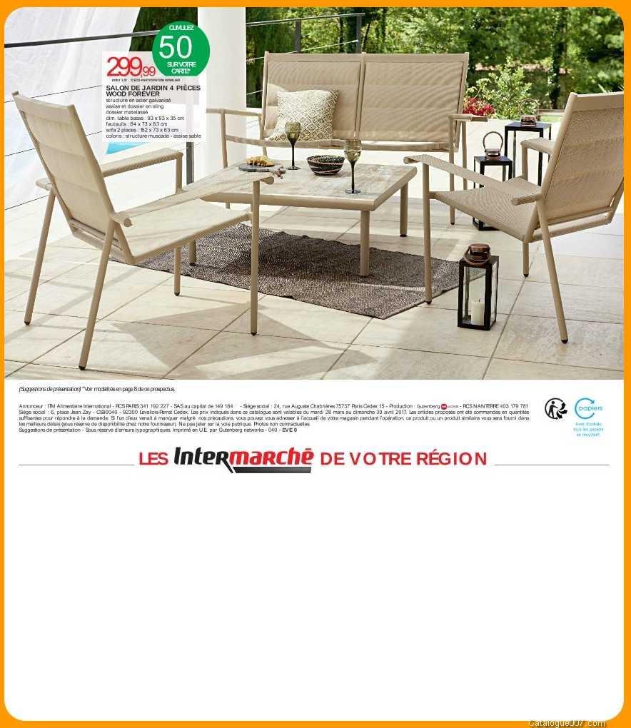 Salon De Jardin Wood Forever Intermarché Avril 2017 ... destiné Table De Jardin Intermarché