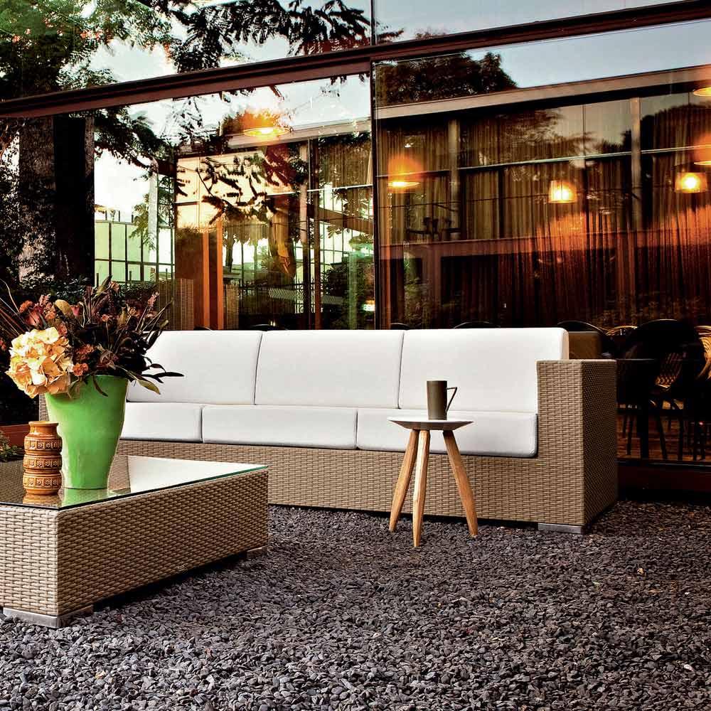 Salon D'extérieur Moderne Varaschin Cora, Aluminium + Fibre Tressée destiné Cora Salon De Jardin