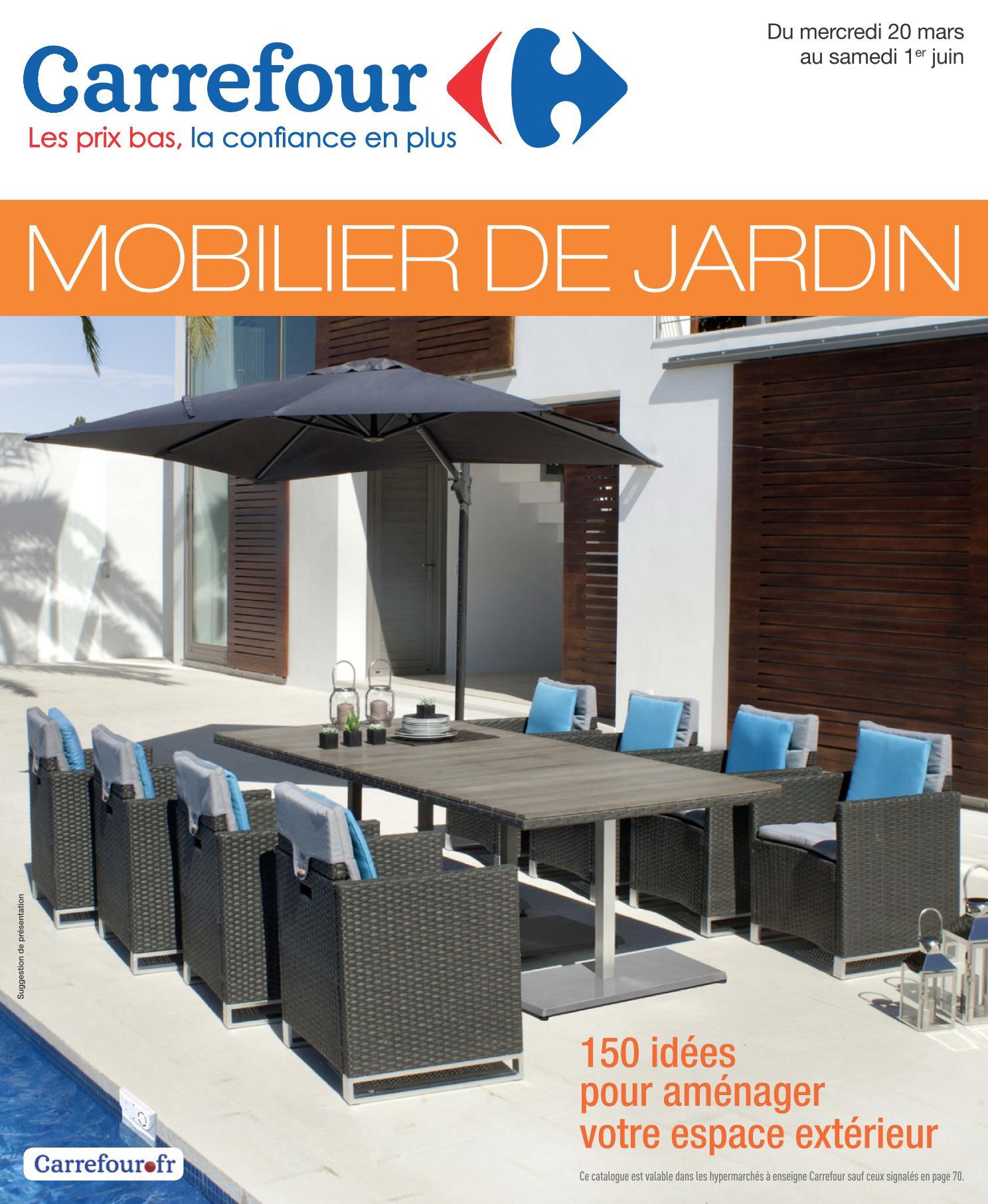 Salon Jardin Carrefour Des Idées - Idees Conception Jardin pour Salon Jardin Resine Carrefour