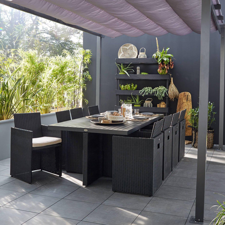 Salon Jardin En Resine Schème - Idees Conception Jardin avec Salon De Jardin Encastrable 6 Places