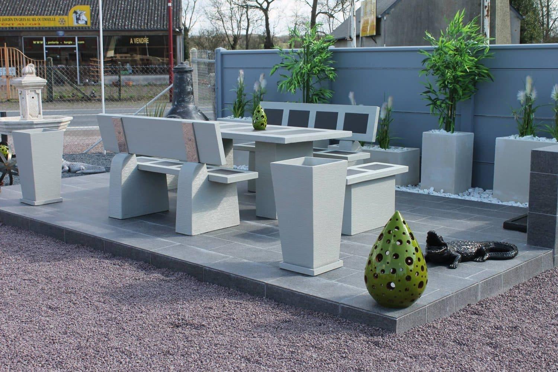 Salon-Jardin-Pierre-Aublet-France • Moulin De Jardin Déco ... avec Salon De Jardin En Pierre
