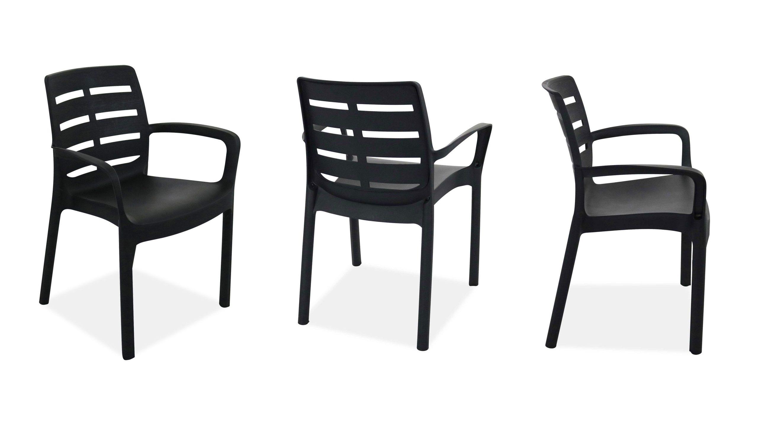 Salon Jardin Plastique Table Et Chaises concernant Salon De Jardin En Pvc