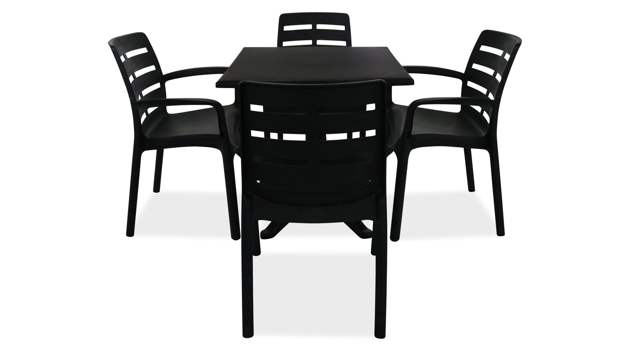 Salon Jardin Plastique Table Et Chaises serapportantà Salon De Jardin Plastique Pas Cher