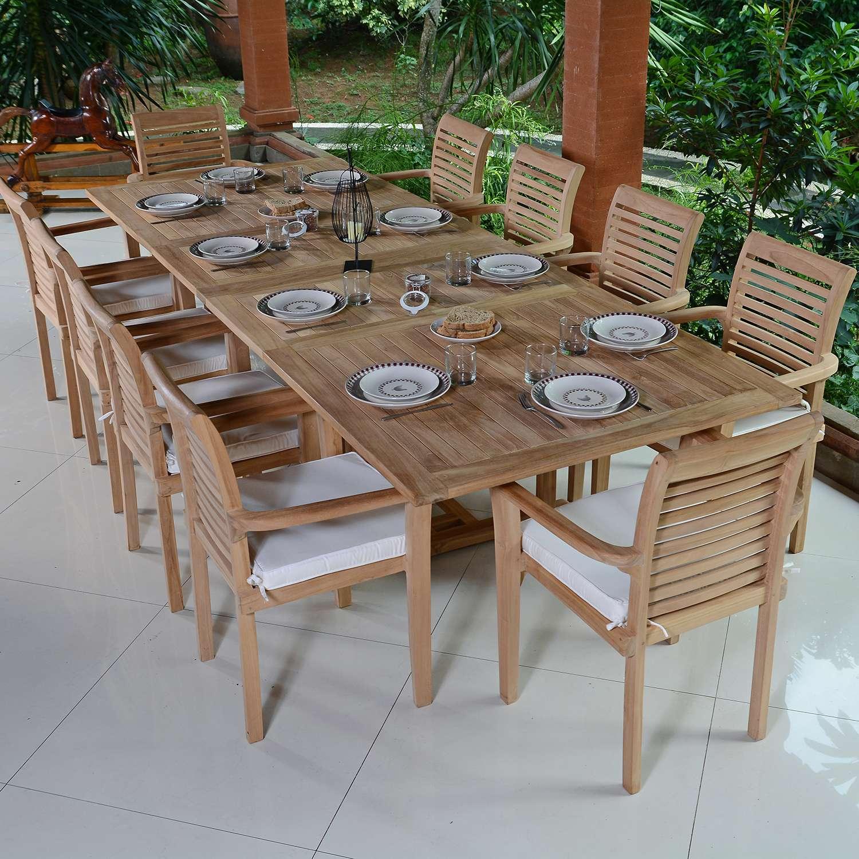 Salon Teck Ecograde Mahina 10 Places concernant Salon De Jardin 10 Personnes