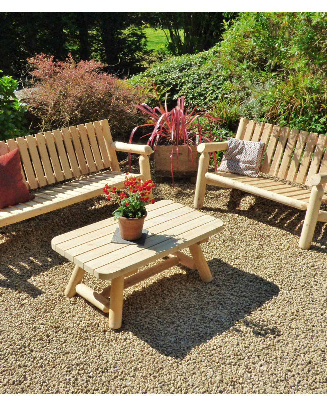 Salons De Jardin En Bois - Que Choisir ? - Cèdre & Rondins dedans Fauteuil De Jardin En Bois Style Americain
