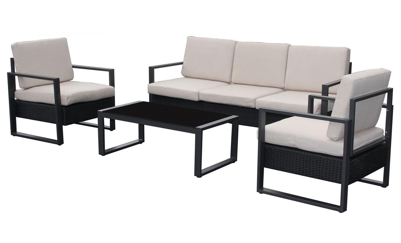 Santorin Blanc pour Salon De Jardin Aluminium Pas Cher