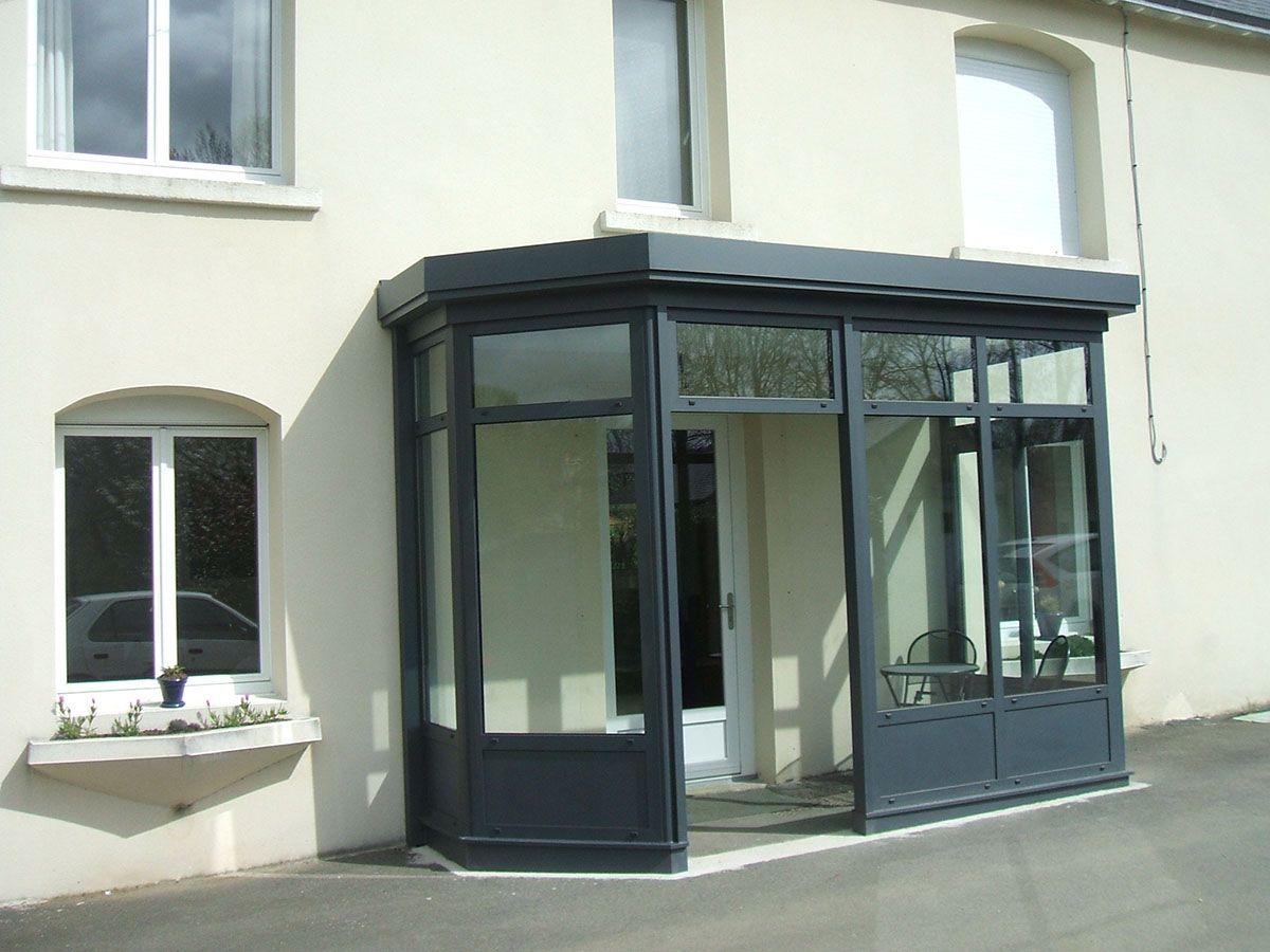 Sas D'entrée | Bow Window, Glass Porch, House Entrance à Verriere Jardin