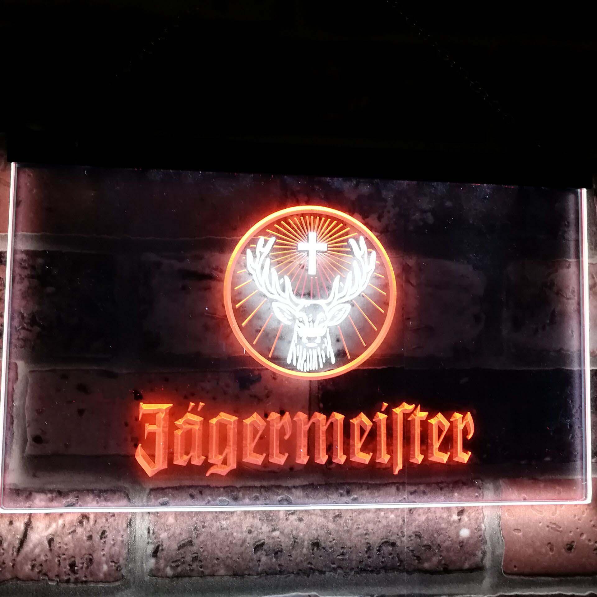 Satın Al Jagermeister Geyik Kafa Çift Renk Led Neon Lambalı ... avec Cora Salon De Jardin