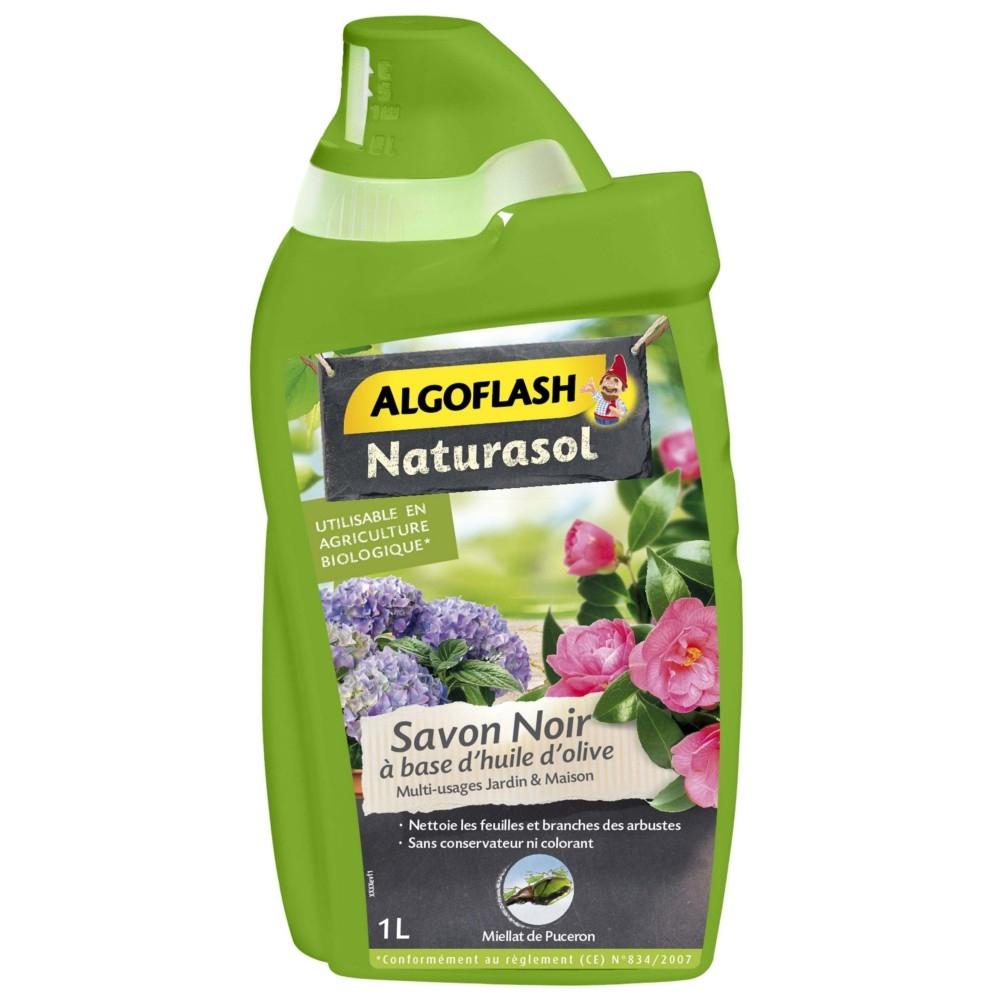 Savon Noir Concentré Algoflash Naturasol 1 L pour Savon Noir Jardin